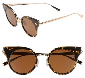 Max Mara Women's Ilde 46Mm Cat Eye Sunglasses - Havana Gold
