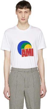 Ami Alexandre Mattiussi White Logo Print T-Shirt