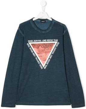 Diesel triangle print jumper