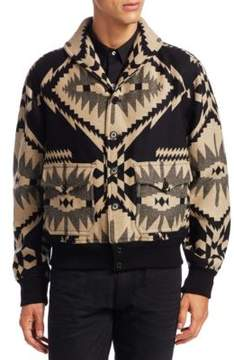 Ralph Lauren Purple Label Wool & Cashmere Bomber Jacket