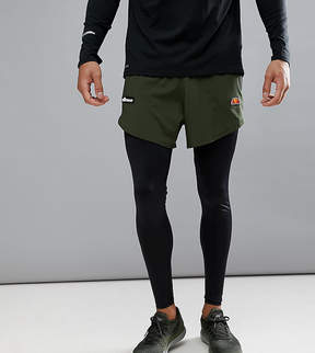 Ellesse Sport running tights with short layer