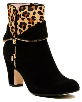 Taryn Rose Tempie Leopard Genuine Calf Hair Bootie