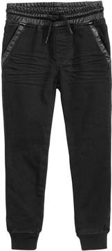 Epic Threads Toddler Boys Faux-Leather Trim Jogger Pants, Created for Macy's