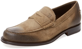 Tod's Men's Crosta Leather Penny Loafer