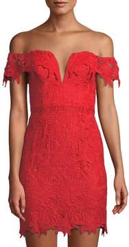 Astr Daniela Lace Off-The-Shoulder Dress