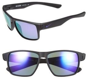Nike 'Mavrk' 59Mm Sunglasses - Matte Black/ Electro Purple