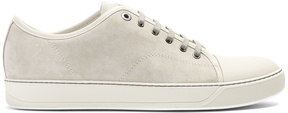Lanvin Low-top suede and leather trainers