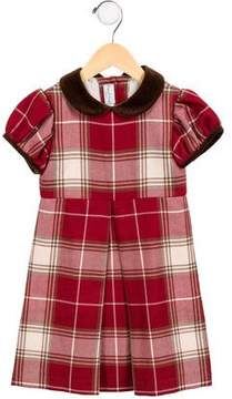 Papo d'Anjo Girls' Plaid Wool Dress