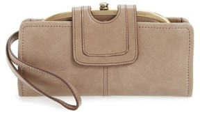 Hobo Women's Nova Calfskin Leather Wallet - Grey