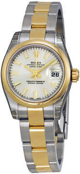 Rolex Lady Datejust 26 Silver Dial Stainless Steel and 18K Yellow Gold Oyster Bracelet Automatic Watch