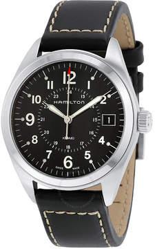 Hamilton Khaki Field Black Dial Black Leather Watch
