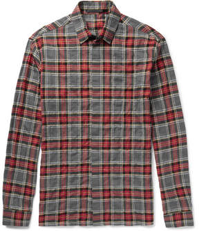 Haider Ackermann Checked Cotton-Blend Flannel Shirt