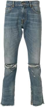 Ih Nom Uh Nit distressed slim fit cropped jeans