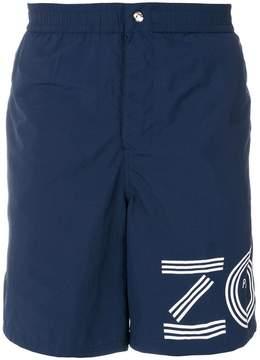Kenzo logo print Bermuda shorts