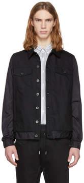 Diesel Black Gold Black Denim and Nylon Trucker Jacket