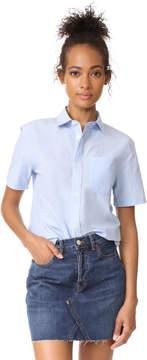A.P.C. Dana Short Sleeve Button Down Shirt