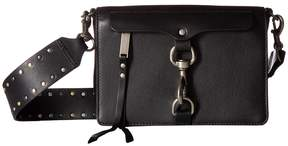 Rebecca Minkoff Large Mab Flap Crossbody w/ Flat Stud Gs Cross Body Handbags - BLACK - STYLE