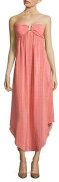 Melissa Odabash Shirred Hi-Lo Silk Dress