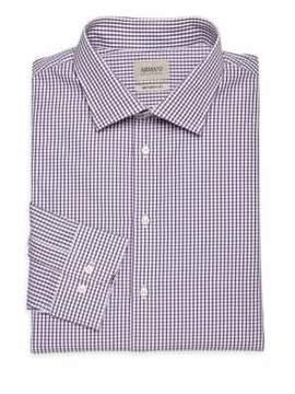 Giorgio Armani Plaid Cotton Dress Shirt