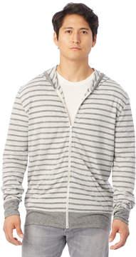 Alternative Apparel Basic Striped Eco-Jersey Zip Hoodie
