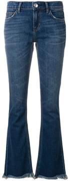 Current/Elliott frayed bootcut jeans