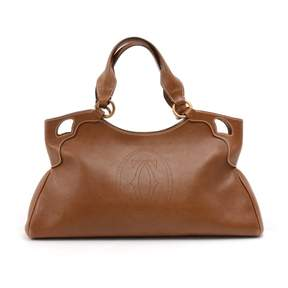 Cartier Marcello Brown Leather Handbag