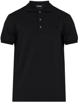 Bottega Veneta Logo-embroidered cotton-piqué polo shirt