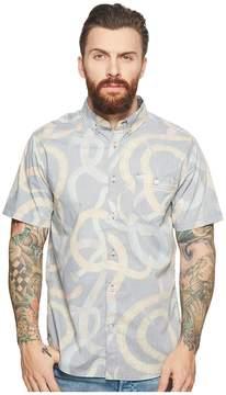 VISSLA Da Bush Short Sleeve Printed Woven Top Men's Clothing