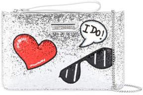 Love Moschino glitter clutch