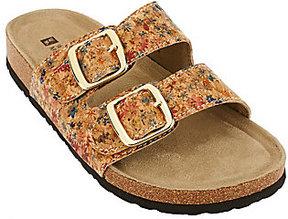 White Mountain As Is Double Strap Slip-on Sandals - Helga