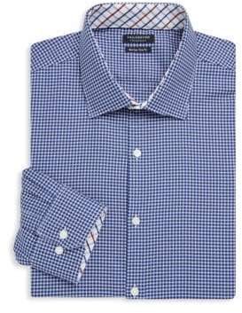 Tailorbyrd Bremond Trim-Fit Printed Cotton Dress Shirt