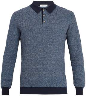 Boglioli Point-collar knitted polo shirt