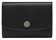 Tory Burch Parker Medium Flap Wallet - BLACK - STYLE