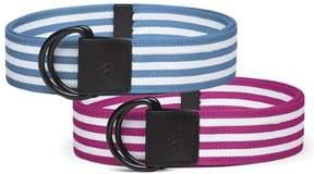 adidas Women's Stripe Webbing Belt 2-Pack: Magenta & Blue