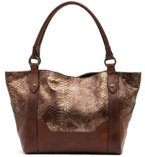 Frye Melissa Leather Snake Pattern Shoulder Bag