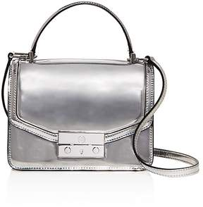 Tory Burch Juliette Mini Top Handle Satchel - SILVER/SILVER - STYLE