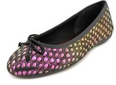 French Sole Jam Women Canvas Flats.