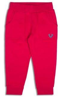 True Religion Toddler's, Little Girl's & Girl's Branded Cropped Sweatpants