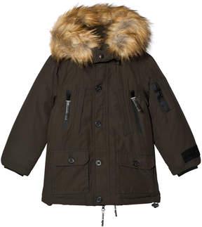 Diadora Green Sanford Lungo Nylon Parka Hooded Jacket