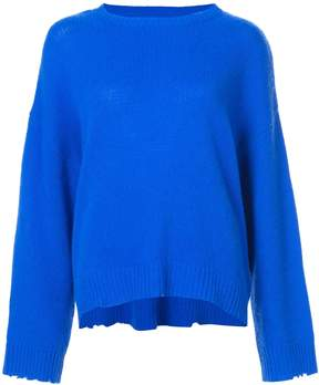 RtA cashmere distressed detail sweater