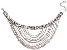 Dannijo Odion Layered Chain Statement Necklace, Pink