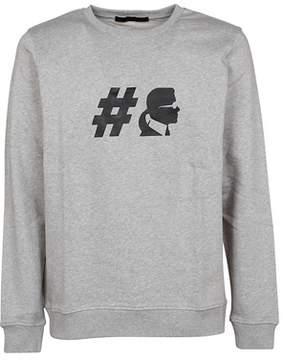 Karl Lagerfeld Men's 500999901 Grey Cotton Sweatshirt.