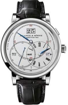 A. Lange & Söhne A. Lange and Sohne Richard Lange Terraluna 180.026 18K White Gold / Leather 45.5mm Mens Watch