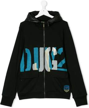 John Galliano printed zip hoodie