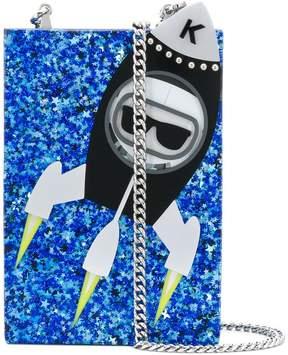 Karl Lagerfeld Space clutch bag