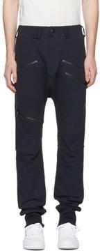 Pierre Balmain Navy Multi Zip Trousers