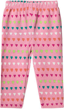 Hatley Pink Heart Stripes Mini Leggings