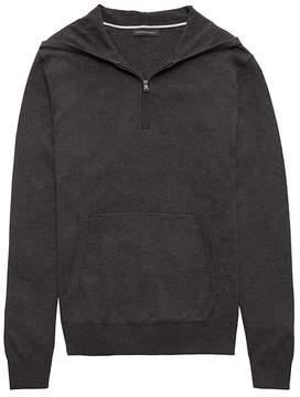 Banana Republic SUPIMA® Cotton Half-Zip Sweater Hoodie