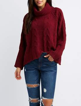 Charlotte Russe Brushed Chenille Cowl Neck Sweater
