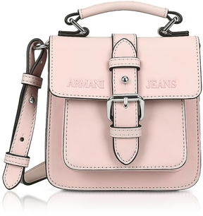 Armani Jeans New Light Pink Eco Leather Crossbody Bag